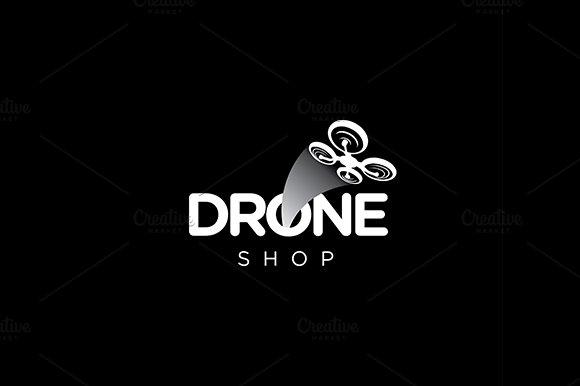Drone quadcopter vector logo