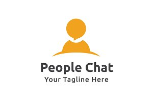People Chat Logo Template