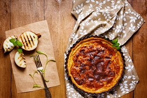 Appetizing vegetable tart