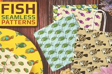 15 Fish Seamless Vector Patterns