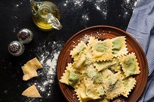 classic ravioli on a plate