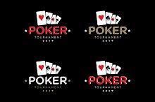 Poker vector logo template set