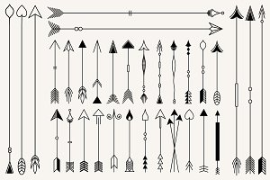Hipster arrows collection.