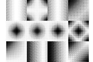 Halftone background set