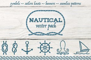 Nautical vector pack