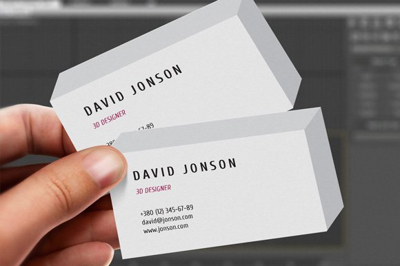 3d business card business card templates creative market - 3 D Business Card