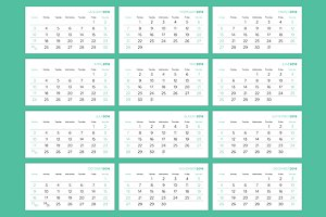 Calendar Pages 2016 Vector Template