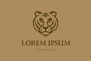 Tiger face vector logo template