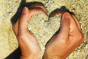 Sand In The Form Of Heart