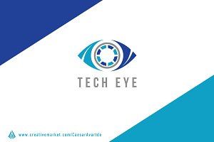 Tech Eye Logo Template