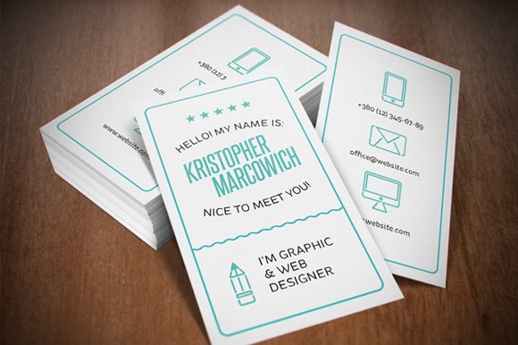 Typography business cards business card templates creative market colourmoves