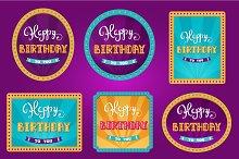 Happy Birthday. Circus birthday card