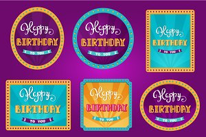 Happy Birthday. Circus birthday card