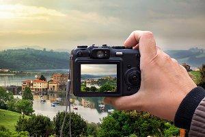 Landscape on the digital camera