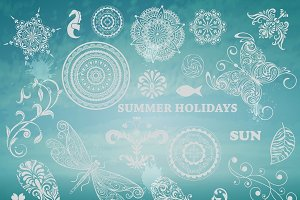 Vector Summer Design Elements