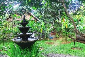 Courtyard in Bali,Indonesia