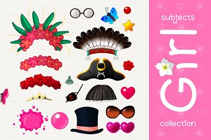 ♥ vector Accessories for girl