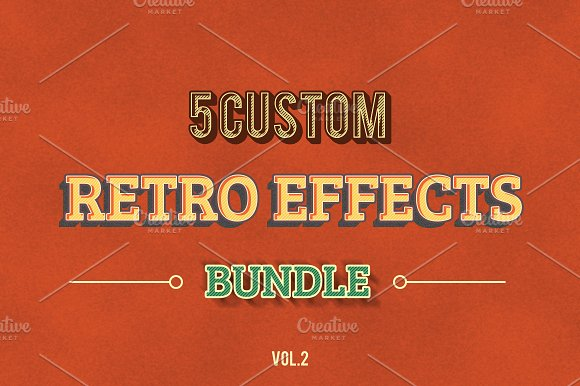 Retro Vintage Effects vol.2 - Layer Styles
