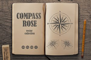 Compass Rose Vector Set