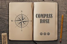 Vector compass rose (windrose)