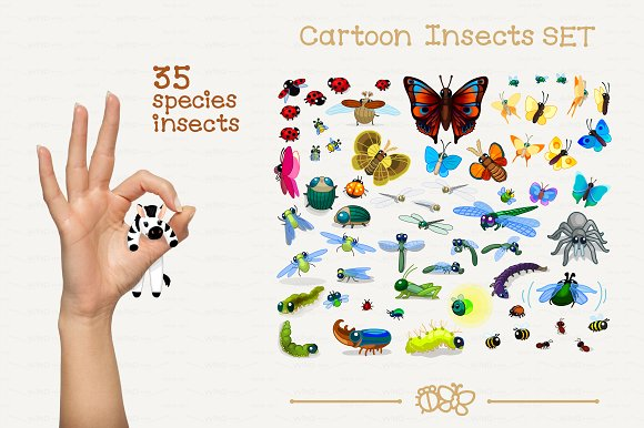 ♥ vector Animals Set 1 in Illustrations - product preview 1