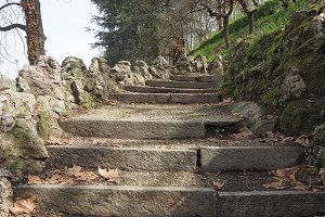 Ancient hill stairway