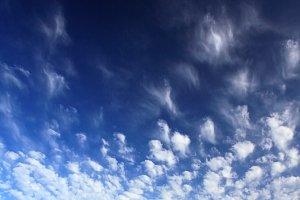 Blue sky background. Square format.