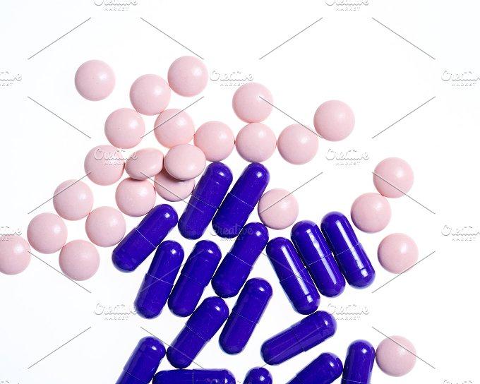 Vitamins closeup. Doping. - Health