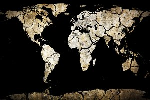 Save Earth. Dry Cracked Planet.