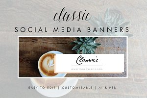 Social Media Banners - Classic