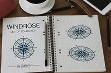 Windrose Vector Set