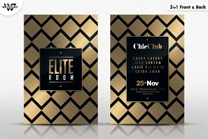 3in1 MINIMAL GOLD Flyer Template