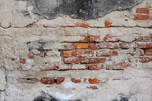 Decayed brick wall