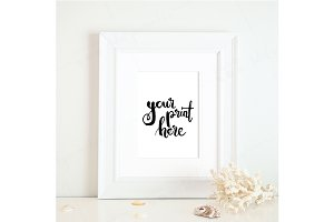 Styled white frame mockup - beach 5