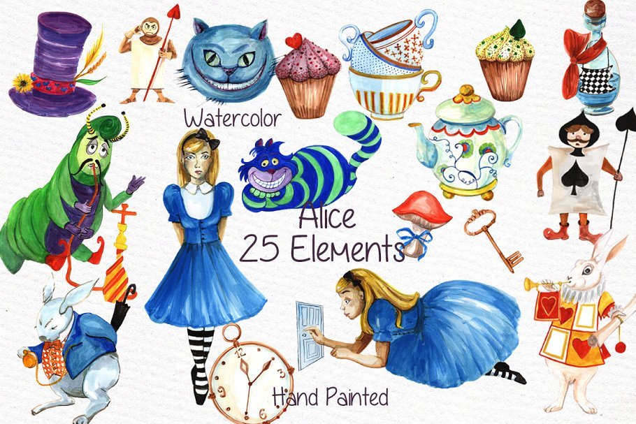ffee556d2a Alice in Wonderland clipart