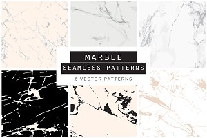 Marble Seamless Vector Patterns - 1