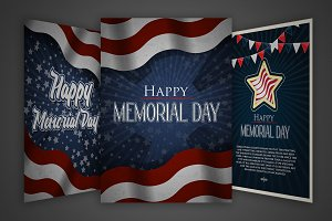 Vector Memorial Day posters