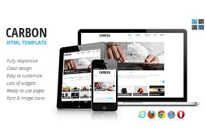 Carbon Responsive HTML template