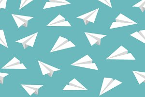 Paper Planes Backgrounds & Seamless