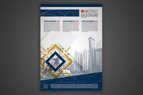 Vector business background in Presentation Templates