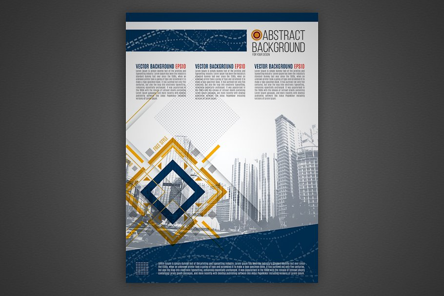 Vector business background in Presentation Templates - product preview 8