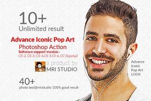 Advance Iconic Pop Art Action
