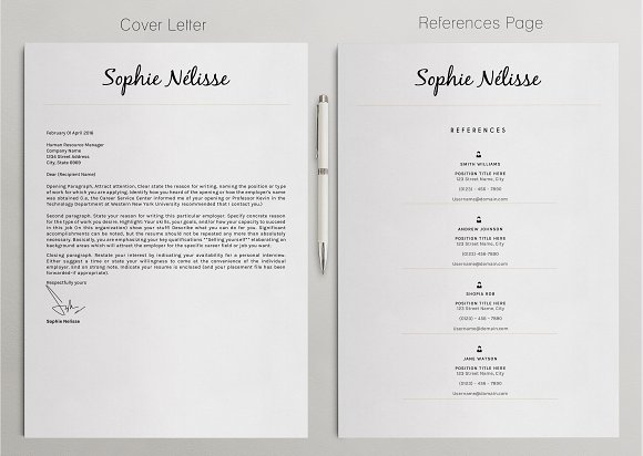 Professional resume template resume templates creative market maxwellsz