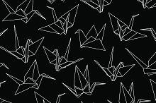 Paper Cranes Seamless Pattern