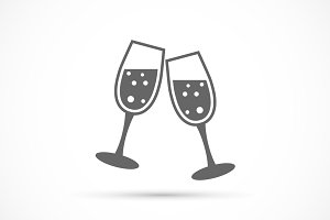 Glasses champagne icon