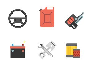 Car parts repair icon