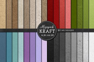 Kraft Paper Texture Pack - Megapack