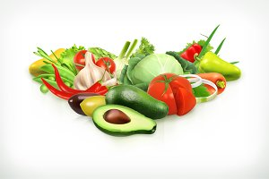 Avocado and vegetables
