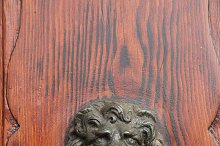 Bella Italia series. Venice - the Pearl of Italy. Door handle in the shape of a lion. Venice, Italy.
