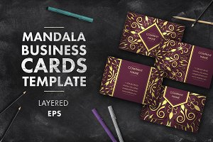 Mandala business card 007